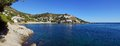 Coastal panorama in Costa Brava Stock Images