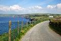 Coastal path port isaac along the at cornwall Stock Photo