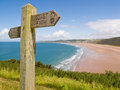 Coastal path, Woolacombe, Devon Royalty Free Stock Image