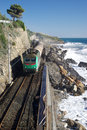Coastal railway track Royalty Free Stock Image