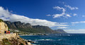 Coastal road near Camps Bay, Western Cape, South Africa Stock Photos