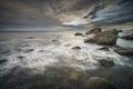 Coastal scene in eggum lofoten islands some of norways most scenic wilderness Royalty Free Stock Photos