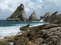 Coastal scenery at guadeloupe rocky on a caribbean island named Stock Photography