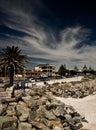 Coastal Town Royalty Free Stock Photo