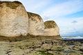 Coastal view of flamborough white rocks Royalty Free Stock Photography
