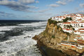 Coastline beautiful fishing village in the west coast of portugal Stock Images