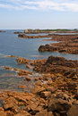 Coastline in Brittany, northern france Stock Photos