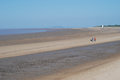 Coastline at burnham on sea uk view during low tide Stock Images