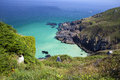 Coastline in Cornwall Royalty Free Stock Photo