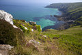 Coastline in cornwall dramatic great britain Stock Photos