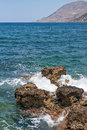 Coastline in crete beautiful sunny day Stock Photos
