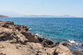 Coastline in crete beautiful sunny day Stock Image