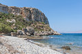 Coastline in crete beautiful sunny day Royalty Free Stock Image