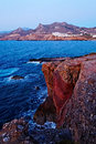 Coastline of Cyclades Islands Royalty Free Stock Photos