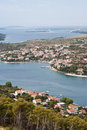 Coastline of Dalmatia - Sibenik area Stock Photos