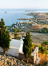 Coastline of Greek islands Royalty Free Stock Photos