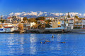 Coastline of Kato Galatas town on Crete Royalty Free Stock Photo