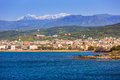 Coastline of Kissamos town on Crete Royalty Free Stock Photo