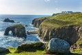 coastline at  lands end Cornwall Royalty Free Stock Photo