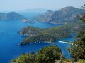 Coastline landscape of mediterranean sea turkey view coast and mountains Royalty Free Stock Photography