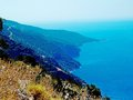 Coastline landscape of mediterranean sea turkey view coast and mountains Royalty Free Stock Photo