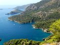 Coastline landscape of mediterranean sea turkey view coast and mountains Stock Image