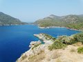 Coastline landscape of mediterranean sea turkey view coast and mountains Royalty Free Stock Photos