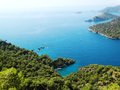 Coastline landscape of mediterranean sea turkey view coast and mountains Royalty Free Stock Image
