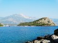 Coastline landscape of mediterranean sea turkey view coast and mountains Stock Photography