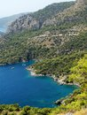Coastline landscape of mediterranean sea turkey view coast and mountains Stock Photos
