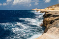 Coastline in malta rugged on the island of Stock Images