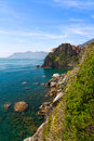 Coastline at Manarola, Cinque Terre, Italy Royalty Free Stock Images