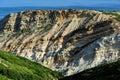 The coastline near cape espichel portugal cliff at Royalty Free Stock Image