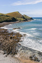 Coastline near Crackington Haven in North Cornwall, UK.  Cam Bea Royalty Free Stock Photo