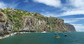 Coastline near ribeira brava madeira portugal hdr panorama Stock Images