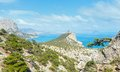 Coastline of novyj svit summer view crimea ukraine reserve capchik cape on center Stock Photography