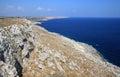 Coastline of peninsula salento south italy is the eastern extremity the apulia region is a sub the main italian sometimes Royalty Free Stock Photo