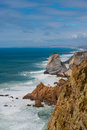 Coastline in portugal near lisbon Royalty Free Stock Images