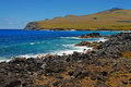 Coastline at rapa nui easter island polynesia chile Stock Photography
