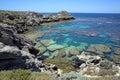 Coastline at rottnest island near perth in western australia Royalty Free Stock Photos