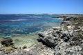 Coastline at rottnest island near perth in western australia Stock Photo