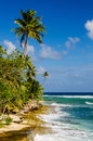 Coastline of San Andres Island in Colombia Royalty Free Stock Image