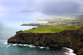 Coastline on sao miguel azores islands Stock Image