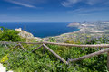 Coastline view from erice town sicily Stock Image