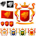 Coat of Arms 011 - Lions Head Stock Image