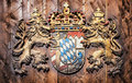 Coat of arms bavaria old germany Stock Image