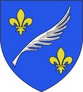 Coat of arms of the city of Cannes. France Royalty Free Stock Photo