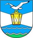 Coat Of Arms Of The City Of Svetly. Kaliningrad Region . Russia