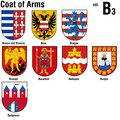Coat of arms collection colored illustrations vector Royalty Free Stock Photos