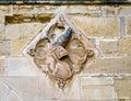 Coat of arms detail knight poblet monastery santa maria de catalonia spain Royalty Free Stock Image